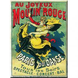 Plaque Métal Au joyeux Moulin Rouge 30x40 cm