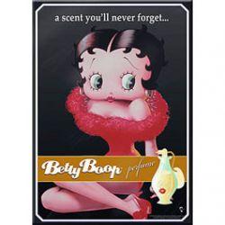 Carte Métal Betty Boop Parfum 15x21 cm