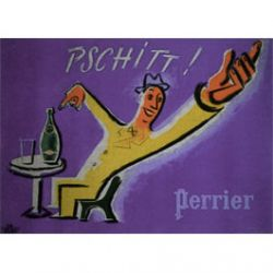 Carte Métal Perrier Pschitt  15x21 cm
