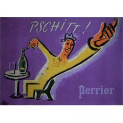 Carte Métal Perrier Pschitt  15x21 cm