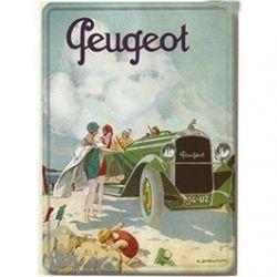Plaque Métal Peugeot La Plage 30x40 cm
