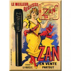 Plaque Métal Réglisse Zan 30x40 cm