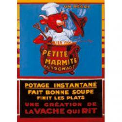 Plaque Métal Vache qui Rit petite marmite 30x40 cm