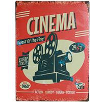 Plaque Métal Cinéma 30x40 cm