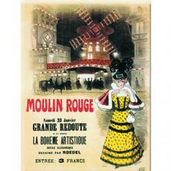 Plaque Métal Moulin Rouge Grande Redoute 30x40 cm