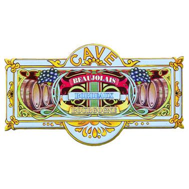 Plaque de porte de cave 3 vins bordeaux beaujolais et bourgogne - Porte de cave ...