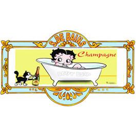 Plaque de porte de salle de bain betty boop for Plaque de porte salle de bain