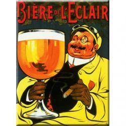 Plaque Métal Bière de l'éclair 30x40cm