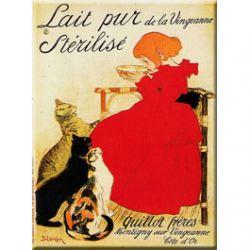 Plaque Métal Lait Pur 30x40 cm