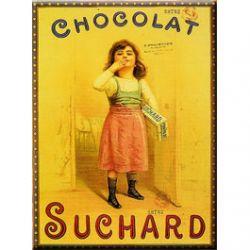Plaque Métal Chocolat Suchard Fillette 30x40 cm