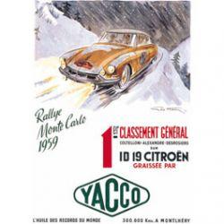 Plaque Métal ID Citroën 30x40 cm