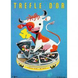 Plaque Métal Trefle d'Or 30x40 cm