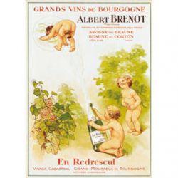 Carte Métal Vins de Bourgogne 15x21 cm