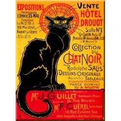 Plaque Métal Exposition Tournée du Chat Noir 30x40 cm