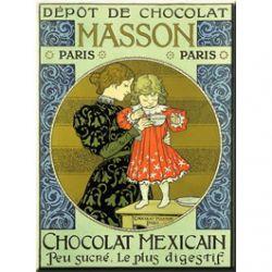 Plaque Métal Chocolat Masson 30x40 cm