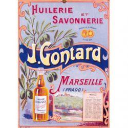 Carte Métal Huilerie et Savonnerie Gontard 15x21 cm