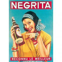 Plaque Métal Negrita Reconnu Le Meilleur 30x40 cm