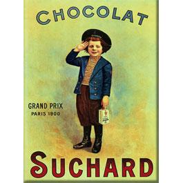 Plaque Métal Chocolat Suchard Enfant 30x40 cm