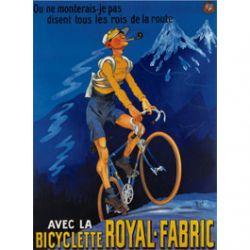 Plaque Métal Bicyclette Royal Fabric 30x40 cm