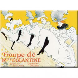 Plaque Métal Troupe de Mlle Églantine 30x40 cm