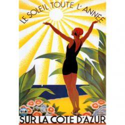 Plaque Métal Côte d'Azur 30x40 cm