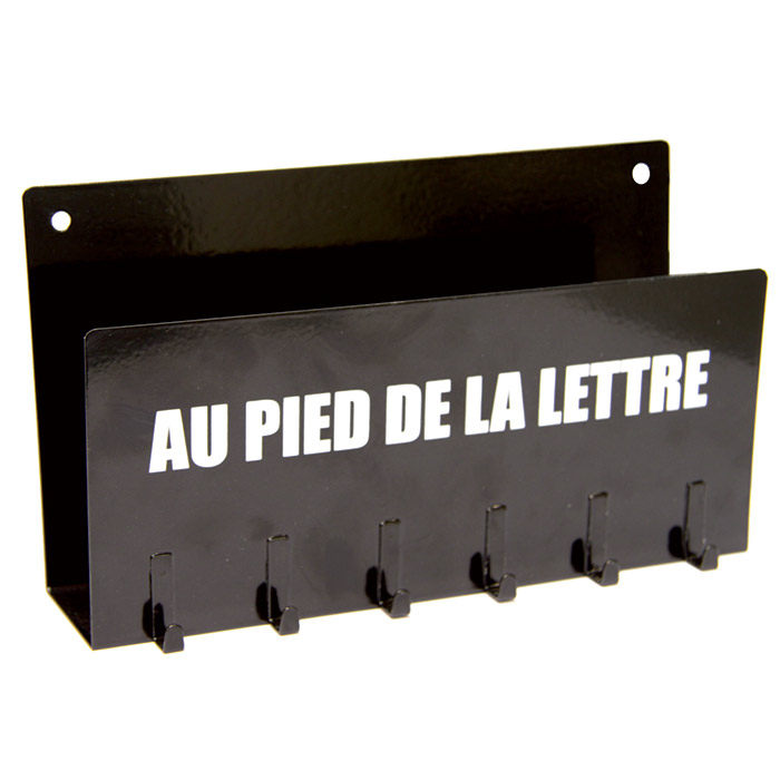 Porte cl s et range lettres courrier porte cl mural 2 en 1 ebay for Range courrier mural metal