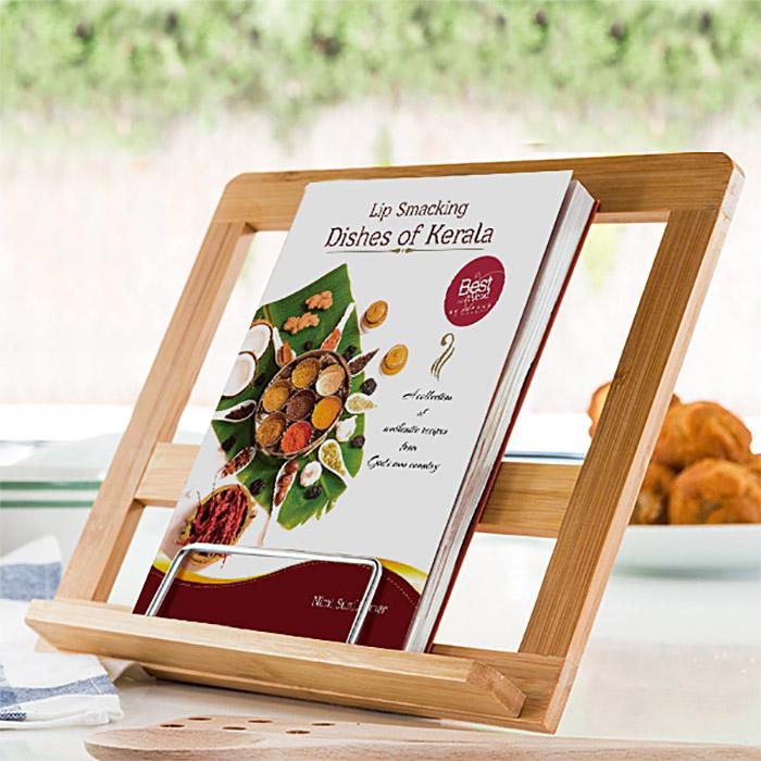 support livre de recettes de cuisine porte livre de recette pour lecture. Black Bedroom Furniture Sets. Home Design Ideas