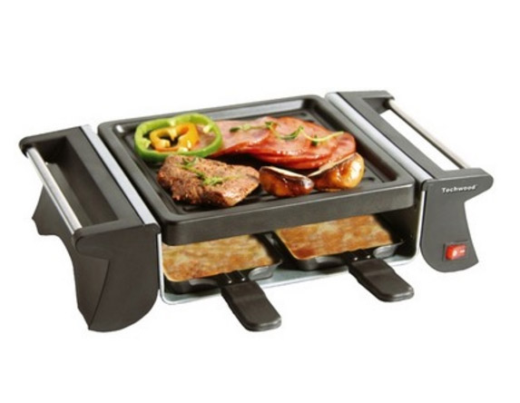 raclette 4 personnes avec grill avec 4 po lons fromage. Black Bedroom Furniture Sets. Home Design Ideas