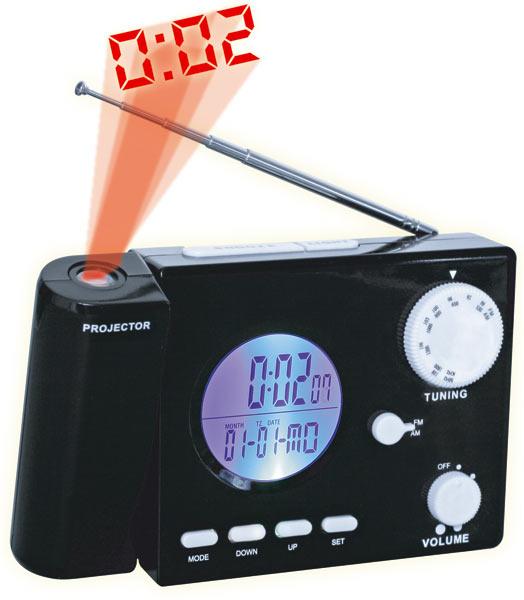 Radio avec projection de l 39 heure au plafond - Reveil avec projection de l heure au plafond ...