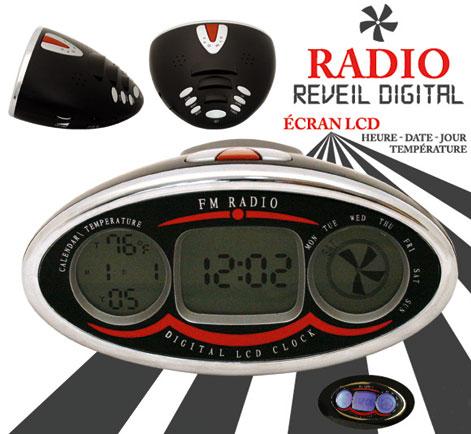 radio r veil digital r tro cran lcd. Black Bedroom Furniture Sets. Home Design Ideas