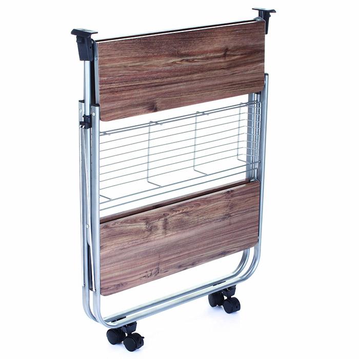desserte de cuisine pliante meuble sur roulette. Black Bedroom Furniture Sets. Home Design Ideas