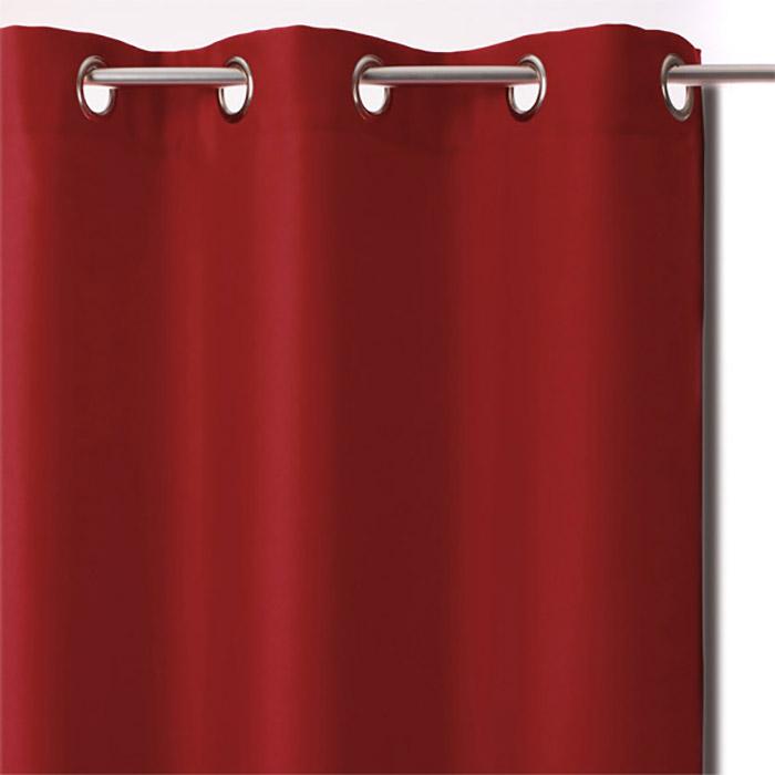 rideau occultant lot de 2 rideaux occultants 135x240 gris lin rouge taupe. Black Bedroom Furniture Sets. Home Design Ideas