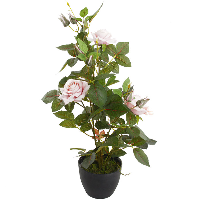 plante artificielle rosier en pot hauteur 50 cm
