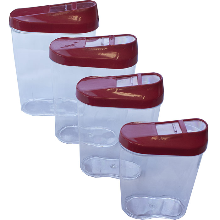 4 boites de conservation alimentaires en plastique noir for Boite plastique alimentaire