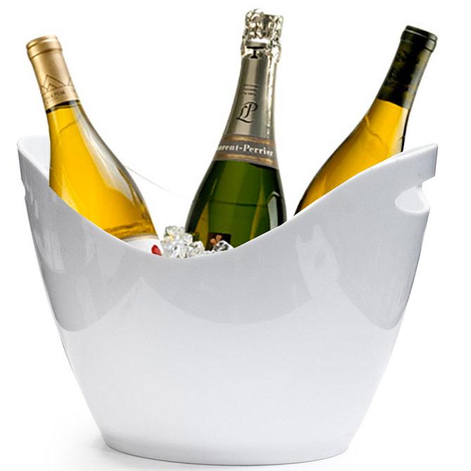 seau champagne 3 bouteilles pour champagne seau glace blanc ebay. Black Bedroom Furniture Sets. Home Design Ideas