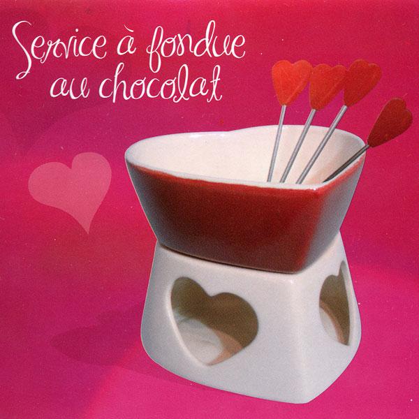 service fondue au chocolat. Black Bedroom Furniture Sets. Home Design Ideas