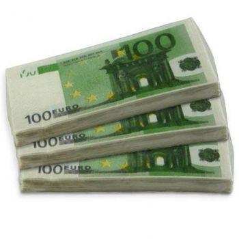 Serviettes en papier 100 Euro