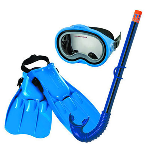 Set de plong e enfant masque tuba palmes id al piscine for Palmes pour piscine