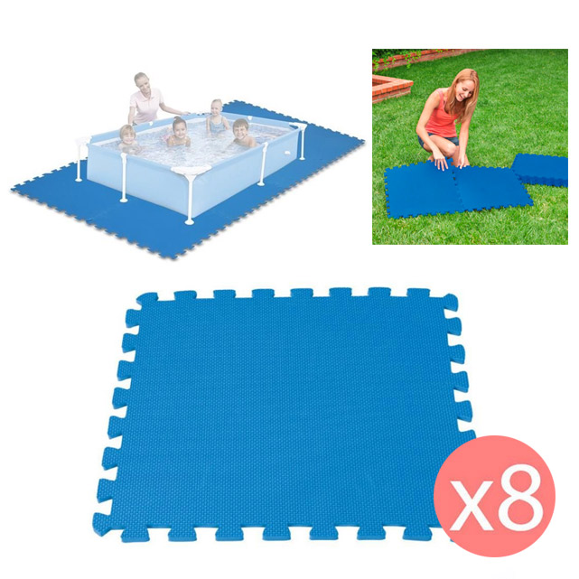 8 dalles tapis de sol modulable pour piscine 50 cm x 50 cm ebay. Black Bedroom Furniture Sets. Home Design Ideas