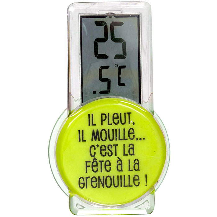 Thermom tre digital lectronique d 39 ext rieur design et for Thermometre piscine design