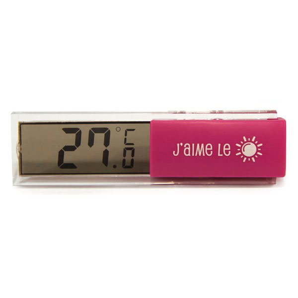 Thermom tre digital d 39 int rieur fushia ebay for Thermometre interieur precis