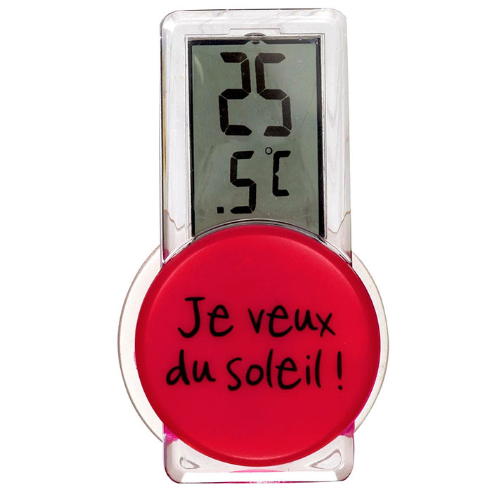 Thermom tre int rieur rouge design design de maison for Thermometre piscine design