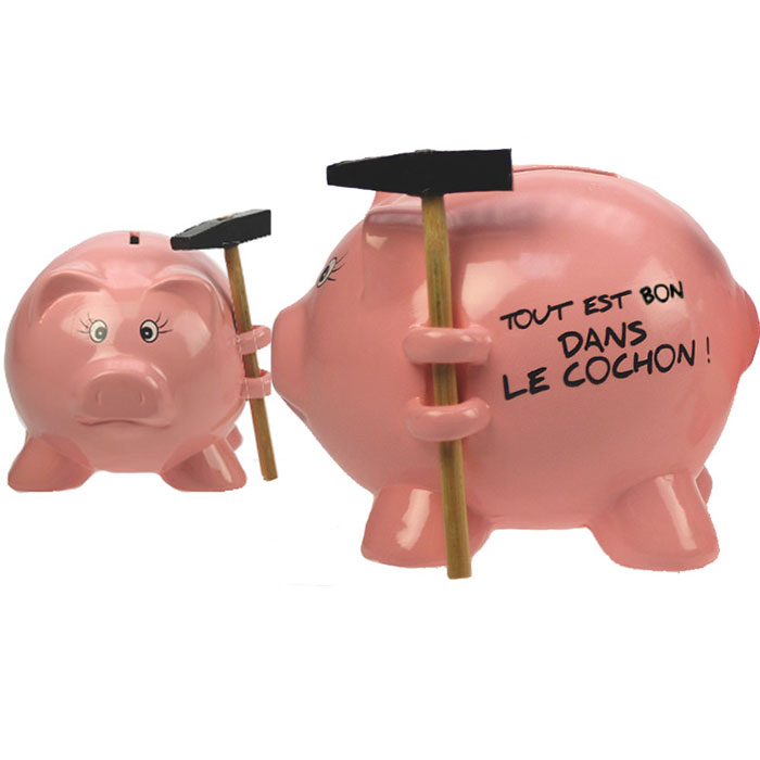 Tirelire cochon casser en c ramique rose avec message for Tirelire a casser gifi