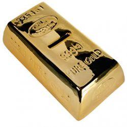 Tirelire lingot d'or