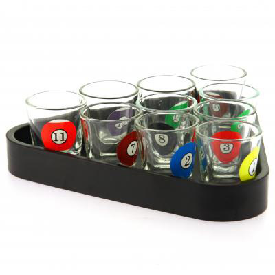 verres shooter billard id e cadeau pour le bar ou la d coration. Black Bedroom Furniture Sets. Home Design Ideas