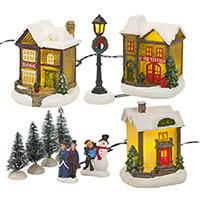 Village de Noël Lumineux 10 pièces