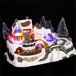 Village de Noël Lumineux Patinoire