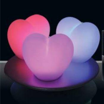 3 lampes d 39 ambiance zen light coeur avec station de charge. Black Bedroom Furniture Sets. Home Design Ideas