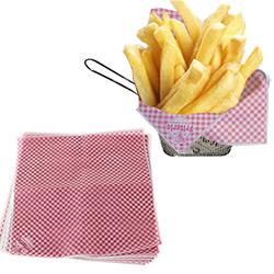 100 feuilles papier Absorbant Frites et Burgers