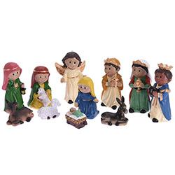 11 Figurines Crèche de Noël Design Moderne